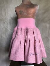 I Pinco Pallino PINK WOOL Blend Pleated Full Skirt Toddler Girls 3 BLING GEMS