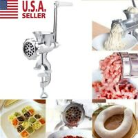Meat Grinder Mincer Stuffer Hand Manual Sausage Filler Sauce Maker Machine