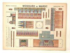 Pellerin Imagerie D'Epinal- 911 Mosquee Au Maroc Moyennes vintage paper model