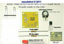 BI-DIRECTIONAL HO SCALE MODEL TRAIN DETECTOR KIT WITH RELAY