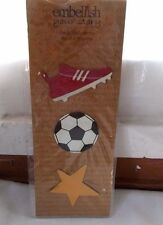 New Demdaco Embellish Your Story Soccer Magnets 3 Pc Set Cleat Shoe Ball Star