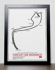 Monaco Grand Prix Track Poster - Formula One - F1
