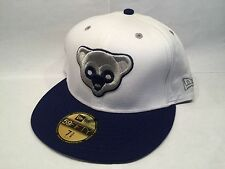 Chicago Cubs New Era 2 Tone Bear Head Hat 59FIFTY White Fitted Cap $35 - 7 1/4