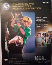 "HP Advanced Glossy Photo Inkjet Paper, 10.5 mil., 250g/m2, 8.5x11"", 50 Sheet"