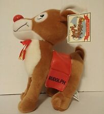 "2000 Rudolph the Red Nose Reindeer Stuffed Plush 10"" Toy Connection New with Tag"