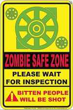 Zombie Safe Zone metal sign (sf)