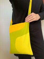 MARIMEKKO Vintage Yellow Geometric Crossbody Shoulder Bag, Finnish vintage