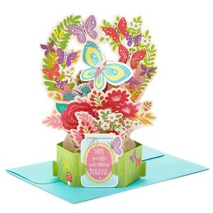 Hallmark Butterfly POp UP Card ~ Thinking of You, Birthday, Encouragement