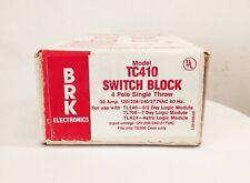 BRK electronics TC410 switch block 4 pole single throw 30a 120/208/240/277 vac
