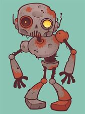 ART PRINT POSTER kids NURSERY ROBOT MONSTER RUSTY MACHINE MAN BEDROOM LFMP0800