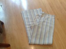 BNNT GREAT PAIR LADIES BEIGE STRIPED 100% COTTON LOUNGE TROUSERS SIZE UK 12