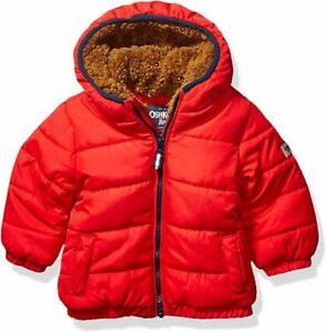 Osh Kosh B'gosh Infant Boys Red Puffer Jacket Size 12M 18M 24M