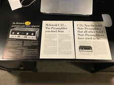 3 Original Mcintosh Sales Brochures Stereo PreAmplifier C-22 and C-24