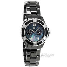 New GC Guess Collection Ladies Swiss Watch Sport Class XL-S Black Ceramic Band