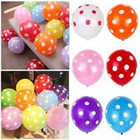 "30 X Polka Dot Birthday Party Decorations - Supplies 12"" Spotty Latex Balloons"