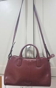 Radley London Ox Blood Maroon Genuine Leather Grab Bag Shoulder Strap Handbag