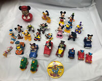 Vintage Lot of 29 Walt Disney Mickey Minnie Mouse Goofy Characters Toys Cars