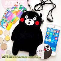 Kumamoto Kumamon Phone Bag Coin Pouch Card Wallet Cosmetic bag hang neck Strap