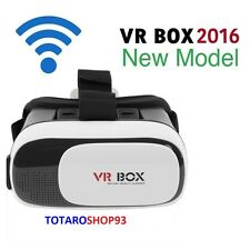 VR BOX OCCHIALI REALTA' VIRTUALE 3D PER IPHONE SAMSUNG GIOCHI VIDEO FILM 360°SC0