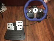 Pelican Playstation 2 PS2 Cobra TT Racing Steering Wheel Controller Pedal TESTED