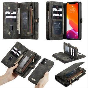 Multifunktion Flip Wallet Case Handy Tasche Schutz Hülle Cover Für Apple Samsung