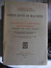 Pomini COSTRUZIONE DI MACCHINE elasticità resistenza materiali 2° ed Hoepli 1921