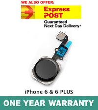 iPhone 6 & 6 PLUS Home Button Flex Cable Finger Fingerprint Scanner Sensor BLACK