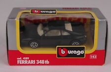 FERRARI  348tb BLACK DIE-CAST MADE BY BURAGO IN ITALY. 1/43 SCALE. # 4189