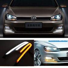 For VW Golf 7 MK7 2014-2015 2x White LED Daytime Day Fog Signal Light Run lamp