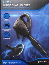 GIOTECK EX4 AURICULAR PARA CHAT CON CABLE. PARA PLAYSTATION 4 PS4.NUEVO EN CAJA.