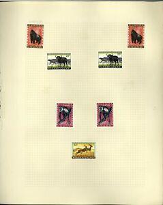 Ruanda Urundi Album Page Of Stamps #V18377