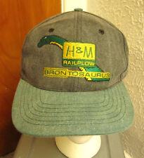H&M RAILPLOW baseball hat Brontosaurus railroad trains telecom cap Dinosaur logo