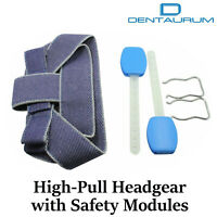 Dental Orthodontic Dentaurum High - Pull Headgear With Safety Modules