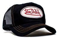 Authentic Brand New Von Dutch Black Cotton Twill Cap Hat Mesh Snapback