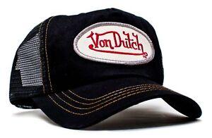 Authentic Vintage New Von Dutch Black Cotton Twill Cap Hat Mesh Snapback