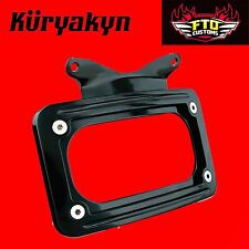 Kuryakyn Black Curved License Plate Mount for Touring 3149