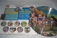 (7169) Die drei Schweinchen -Bildplatte - Picture Disc - 1979 - Beiblatt