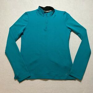 Under Armour Cold Gear Half Zip Pullover Womens Size L Blue Fitted Athletic