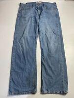 MENS LEVI STRAUSS&CO LEVI'S 569 SIZE W38 L32 BLUE WASH CASUAL DENIM JEAN TROUSER