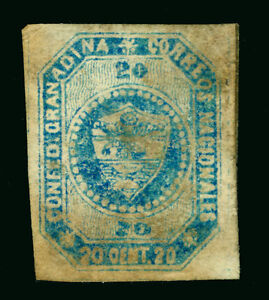 COLOMBIA 1859 Coat of Arms  20c blue  Sc# 6 mint MH Fine