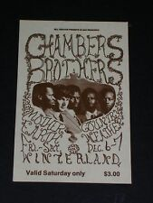 CHAMBERS BROTHERS Psychedelic WINTERLAND TICKET by JUNE