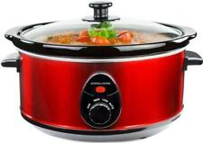 Andrew James Slow Cooker with Removable Bowl 3.5L Red