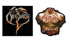 Obituary S/T & Inked In Blood Ltd Ed Rare 2 Stickers Lot +Free Metal Stickers