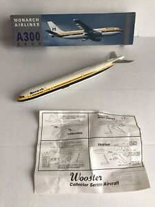 1992 Monarch Airlines Airbus A300-600R Push Fit Model Aircraft Aeroplane DAMAGED