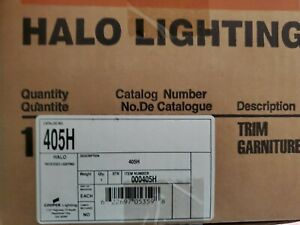 """(4 LOT) NEW IN BOX Halo 405 H Recessed Lighting White Trim, 6""""  Reflector Trim"""