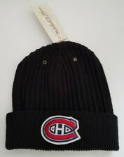 NHL Montreal Canadiens Mitchell & Ness Vintage Black Cuffed Knit Beanie Hat