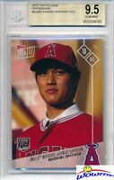 2017 Topps Now Shohei Ohtani FIRST EVER TOPPS ROOKIE BGS 9.5 GEM MINT Angels!
