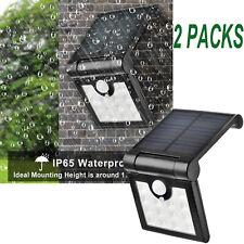 2X 14LEDs Solar Power LED Floodlight Motion Sensor Garden Outdoor Security Light