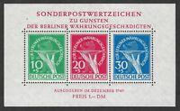 Berlin 9NB3a (Mi. Block 1): RARE VF-NH, handstamp Schlegel BPP, Cat. €950