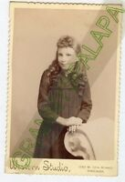 Cabinet Photo-Very Cute Little Girl, Long Hair,Chicago, Illinois-Western Studio